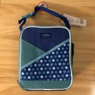 Thermos Insulated Upright Lunch Kit Box Bag Blue Polka Dot
