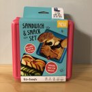 Fit + Fresh Sandwich & Snack Set 4-pc Pink