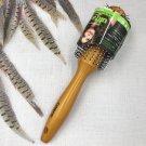 Conair Ultra Detangler Wet Dry Round Brush Wood Handle