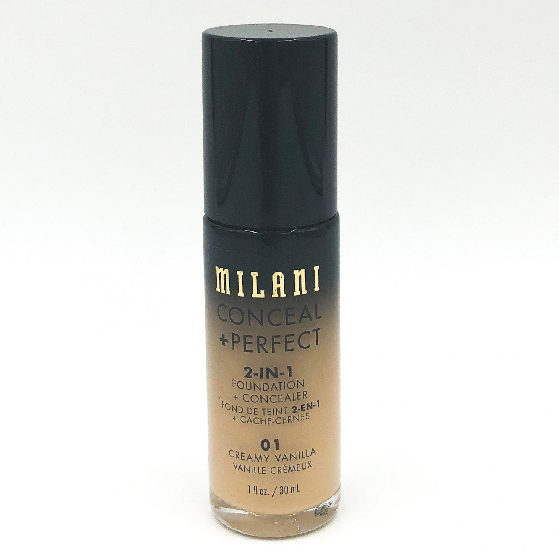 Milani Conceal + Perfect 2-in-1 Foundation + Concealer 01 Creamy Vanilla