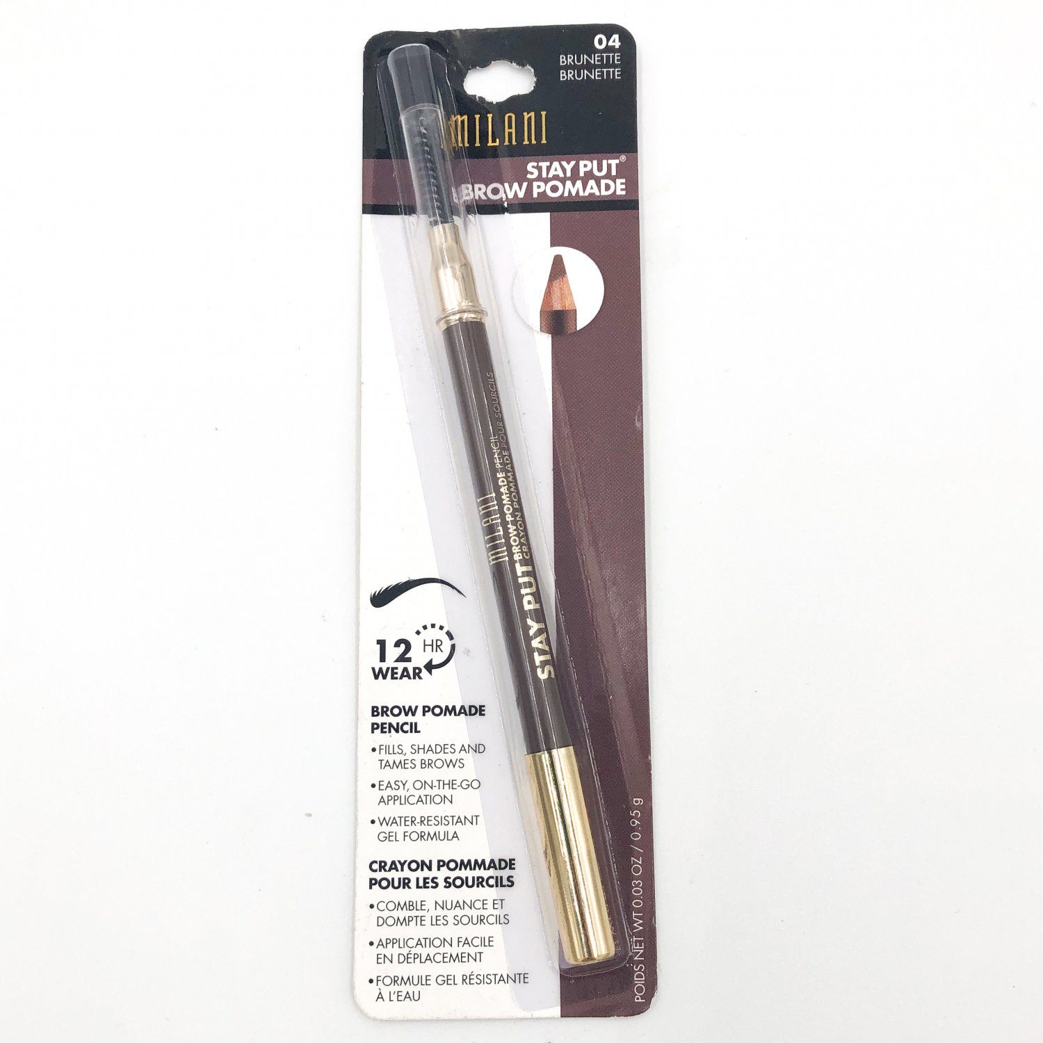 Milani Stay Put Brow Pomade Pencil 04 Brunette