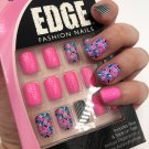 Fing'rs Edge Fashion Nails Short 31115 Pink Blue Black