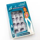 Pretty Woman Airbrush Nails Clear with Purple Tip CPD560