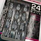 Pretty Woman Nails Clear Black Silver Shell CMM001