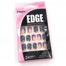 Fing'rs Edge Fashion Nails Short Blue Purple Leopard Print Fake Nails