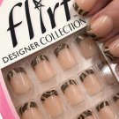 Fing'rs Flirt Designer Collection Nails Short Brown Swirl Tips 31720