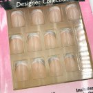 Fing'rs Flirt Designer Collection Nails Short Silver French Tips 31720