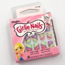 Fing'rs Girlie Nails Press-On Fake Nail Kit 31765 Rainbow Stripe