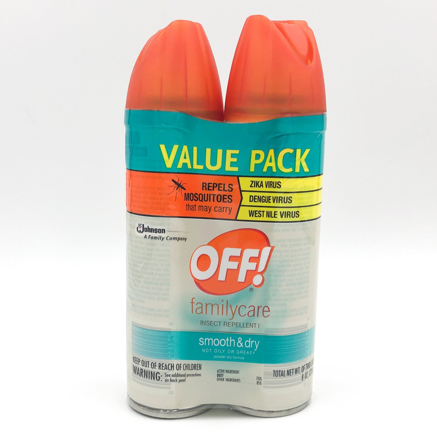 OFF! Family Care Insect Repellent I Smooth & Dry 2-Pack Bug Spray