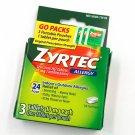 Zyrtec 24-Hour Allergy Tablets 3 Travel Size Go Packs