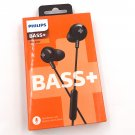 Philips Bass+ In-Ear Headphones with Mic Black