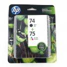 HP 74 + 75 OEM Ink Cartridge Black and Color