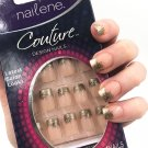 Nailene Couture Designer Nails Kit 71164 Gold Floral French