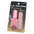 LA Colors Shimmery Nail Polish & Nail File Times Square pink
