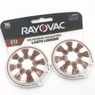 Rayovac 16-Pack Hearing Aid Batteries size 312