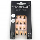 SensatioNail Salon Nails Kit 72146 Apricot/Black