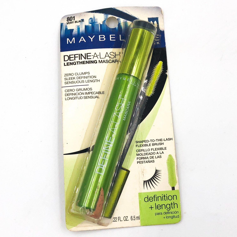 Maybelline Define-A-Lash Lengthening Mascara 801 Very Black Washable