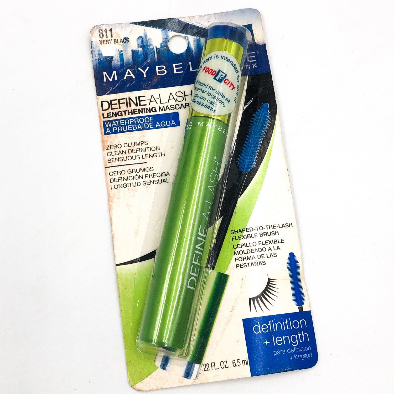 Maybelline Define-A-Lash Lengthening Mascara 811 Very Black Waterproof