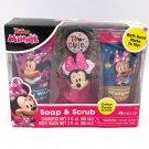 Disney Junior Minnie Mouse 4-Pc Soap & Scrub Kids Bath Set