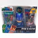 PJ Masks 4-Pc Soap & Scrub Kids Bath Set
