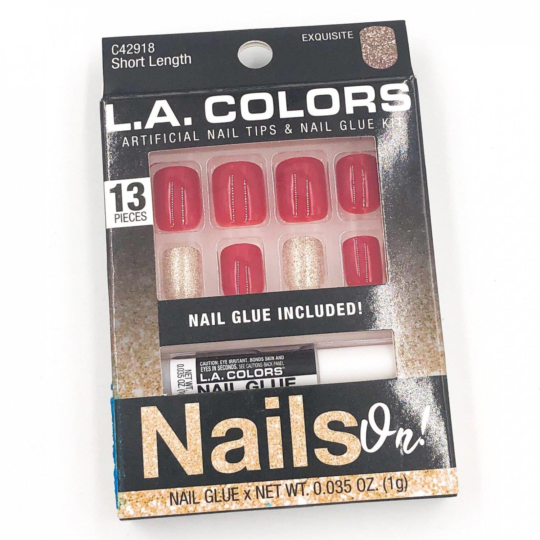 LA COLORS Nails On! Short Fake Nails Kit Exquisite