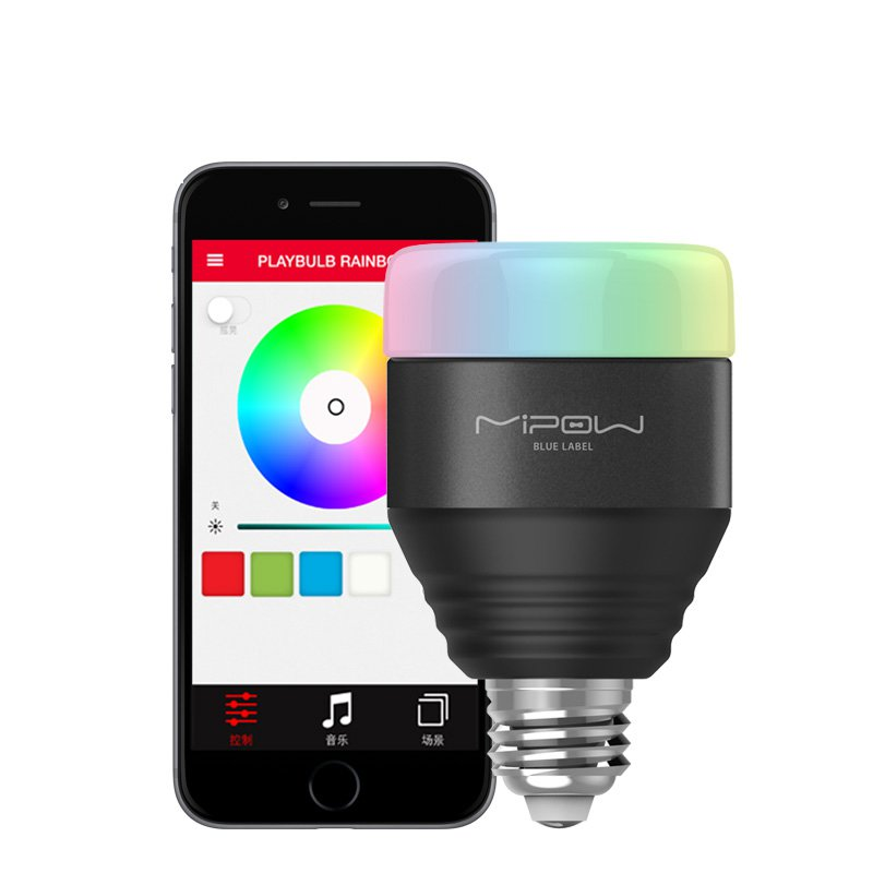 MIPOW Playbulb Rainbow Wireless Bluetooth Remote Control LED Color Smart Light Bulb