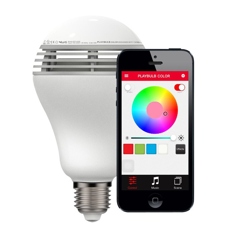 MIPOW Playbulb BTL100C Wireless Remote Control Bluetooth Speaker LED Smart Color + Music Light Bulb
