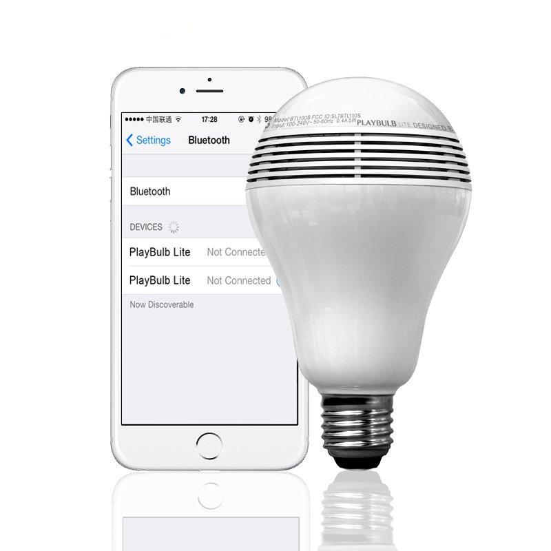 MIPOW Playbulb Lite Wireless Remote Control Bluetooth Speaker LED Smart Music Light Bulb