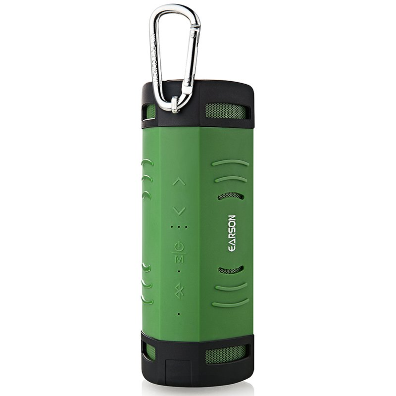 Earson ER-160 Mammoth Outdoor Portable Rechargeable Waterproof Shockproof Bluetooth Speaker (Green)