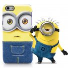 Kajsa Minions Bob iPhone 6 plus/ 6S plus Handmade Cartoon Jean Cloth Hard Case Cover