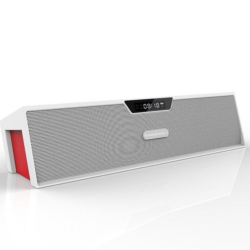 Sardine SDY-019 Alarm Hands-free Bluetooth Speaker (White)