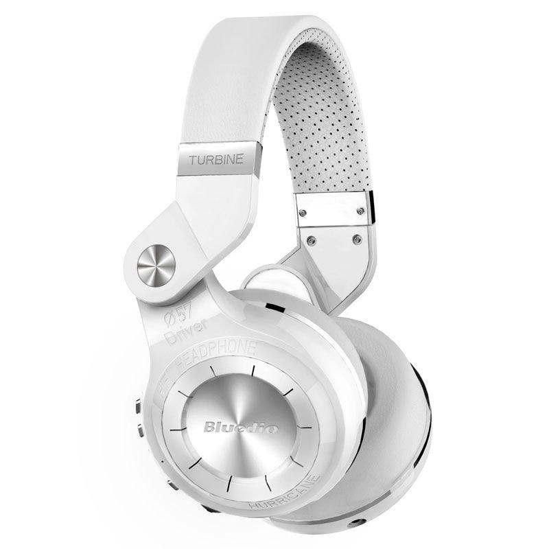 Bluedio T2+ Turbine 195° Rotary Folding Bass Wireless Bluetooth Stereo Over-Ear Headphone (White)