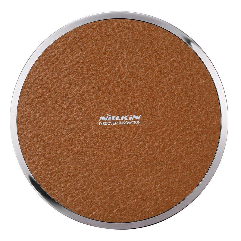 Nillkin Magic Disk 3 Qi Standard Litchi Grain PU Leather 5V/1A Wireless Charger (Brown)