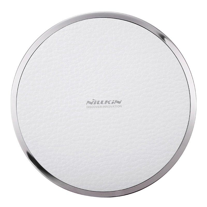Nillkin Magic Disk 3 Qi Standard Litchi Grain PU Leather 5V/1A Wireless Charger (White)