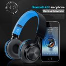 Picun BT-06 Wireless Subwoofer Over-Ear Bluetooth HeadPhone (Blue)