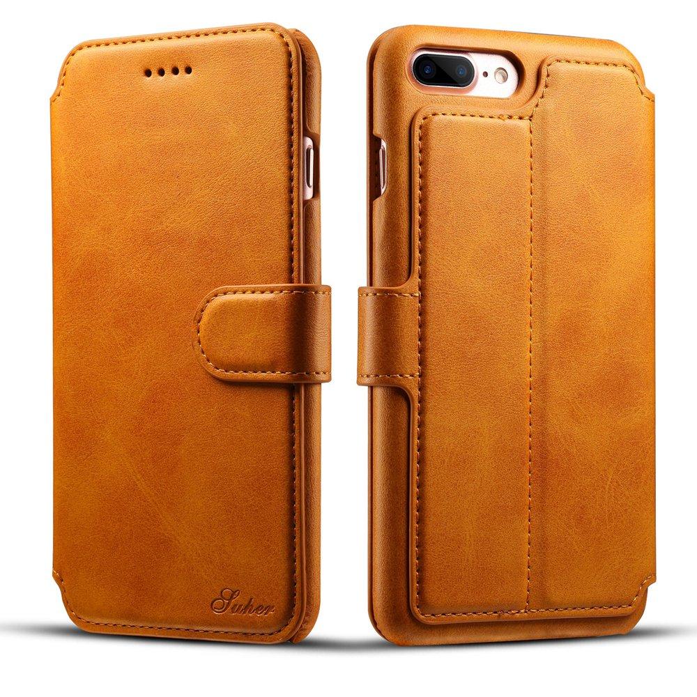 iPhone 7 Plus Wallet Synthetic Leather Folio Flip Case