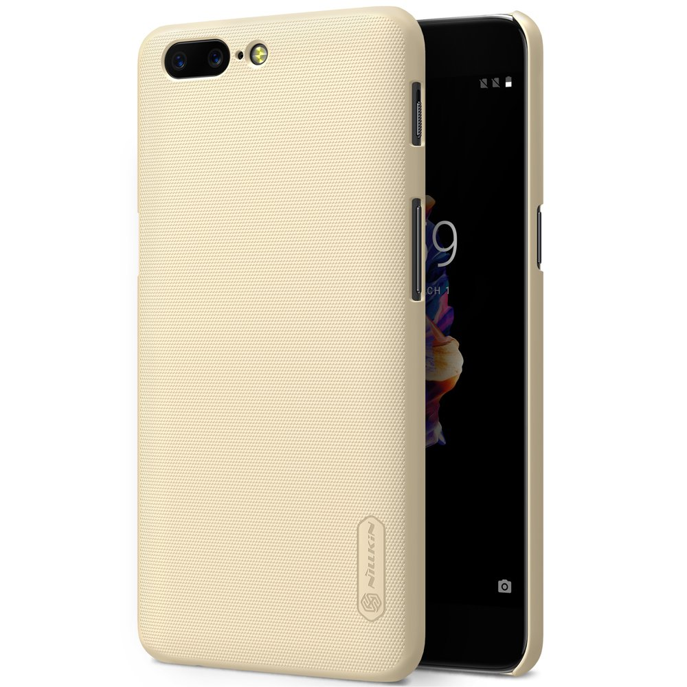Nillkin Frosted Shield Matte Case for OnePlus 5 Case Cover (Gold)