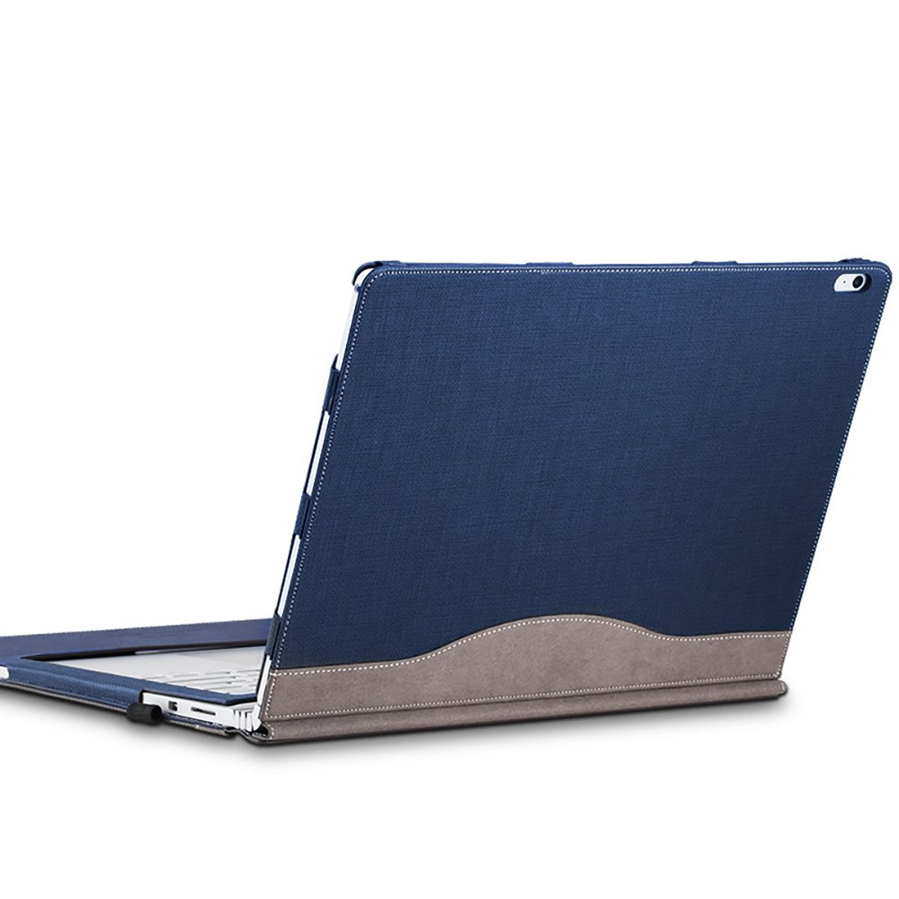 Surface Book 2 13.5 inches Detachable Magnetic Sleeve Case with Bandage (Navy blue)
