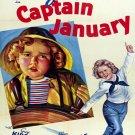 Captain January Shirley Temple Retro Movie 24x18 Print Poster