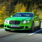 Bentley Continental GT Green Car 24x18 Print Poster
