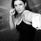 Gina Joy Carano MMA Hot BW Sport 24x18 Print Poster