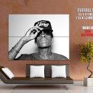 Wiz Khalifa Hip Hop Muisc Rap Singer Bw Huge Giant Print Poster