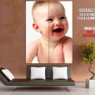 Cute Baby Laughing Mama Pregnancy Huge Giant Print Poster