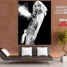 Lady Gaga Hot Singer Music Bw Huge Giant Print Poster