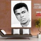 Muhammad Ali Boxing Legend Portrait Bw Huge Giant Print Poster