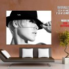 Pink Alecia Moore Hot Bw Portrait Hat Music Huge Giant Print Poster