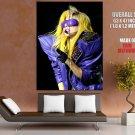 Lady Gaga Ridiculous Purple Costume Music Huge Giant Print Poster