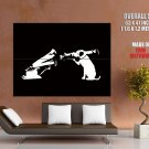 Hmv Dog Bazooka Banksy Graffiti Street Art Huge Giant Print Poster