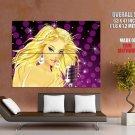 Glamour Golden Girl Blonde Singer Vector Art Huge Giant Print Poster