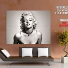 Marilyn Monroe Hot Bw Portrait Actress Movie Huge Giant Print Poster